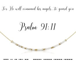 Dot & Dash Design Dot & Dash Scripture Necklace - Psalm