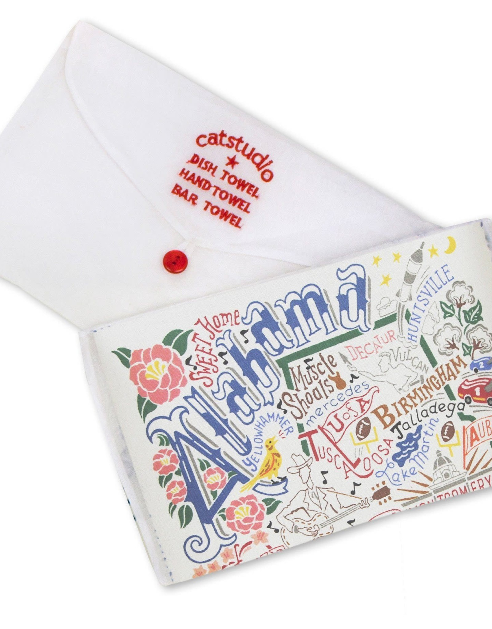 Catstudio Catstudio State Dish Towel Alabama