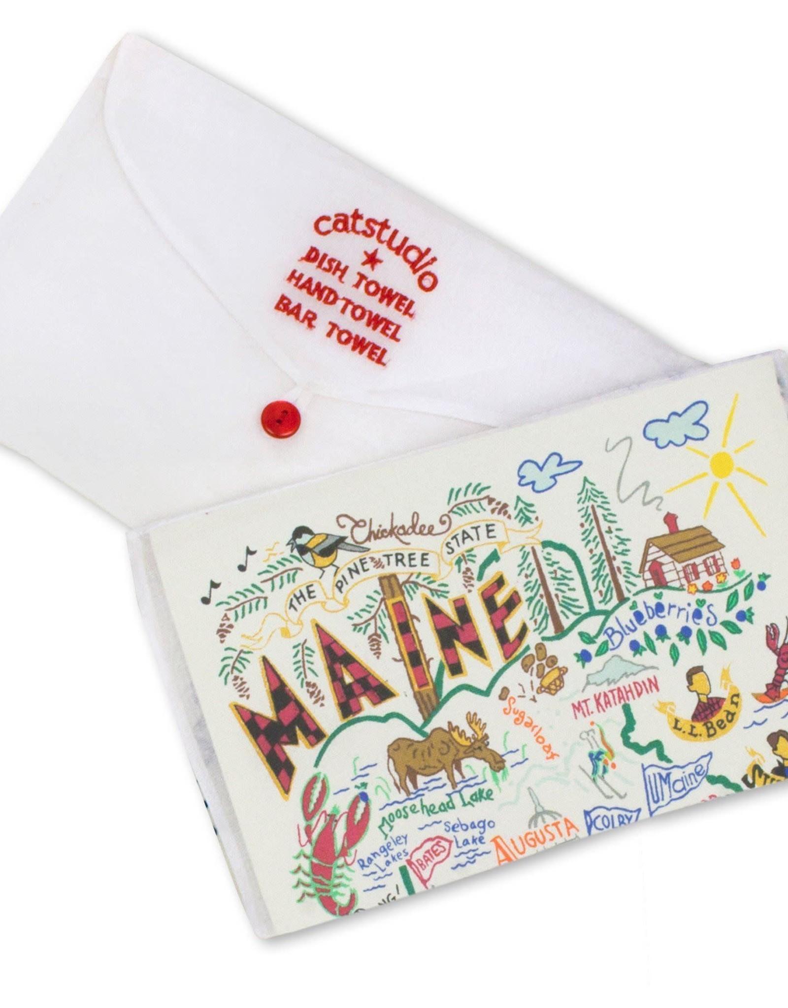 Catstudio Catstudio State Dish Towel Maine