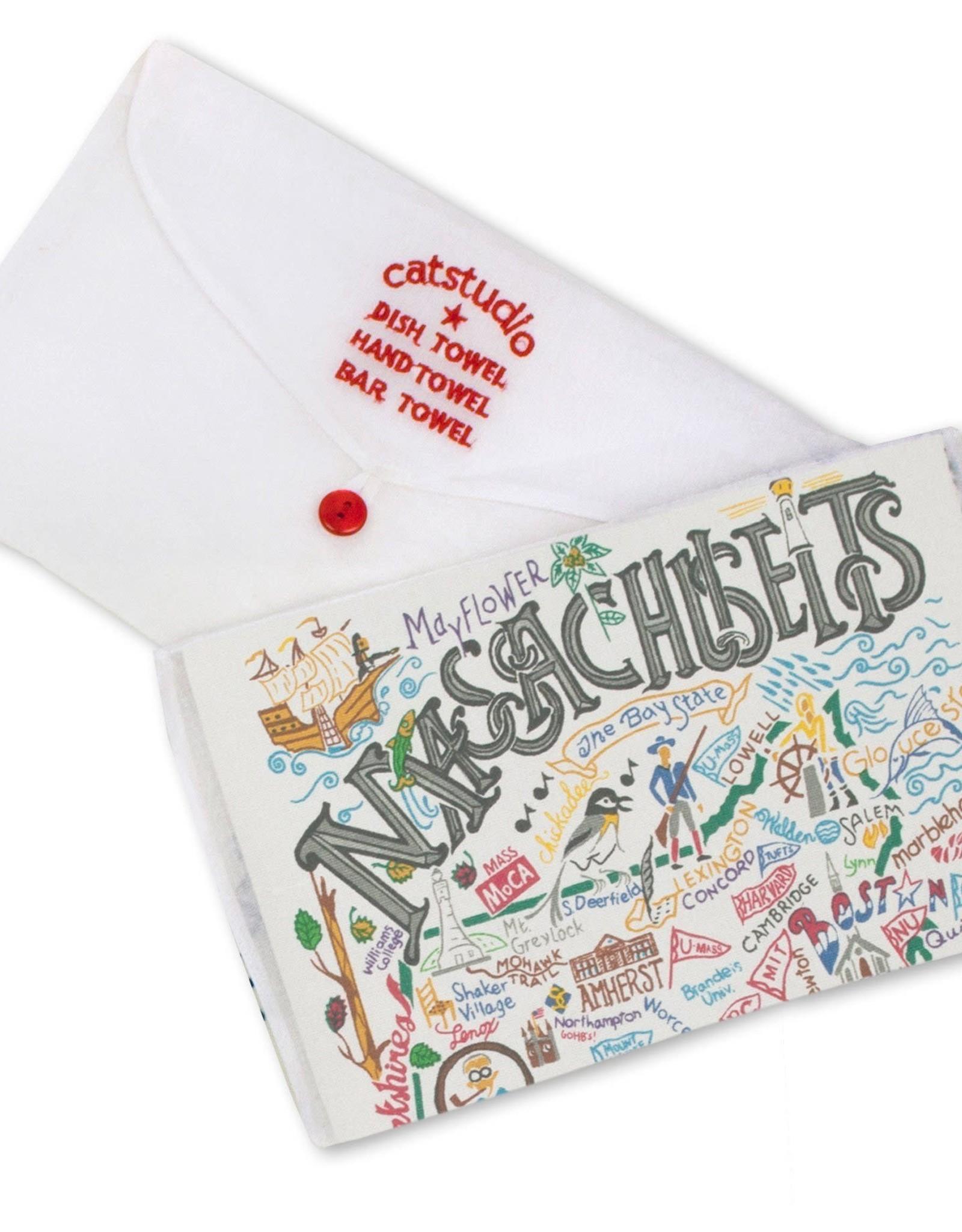 Catstudio Catstudio State Dish Towel Massachusetts