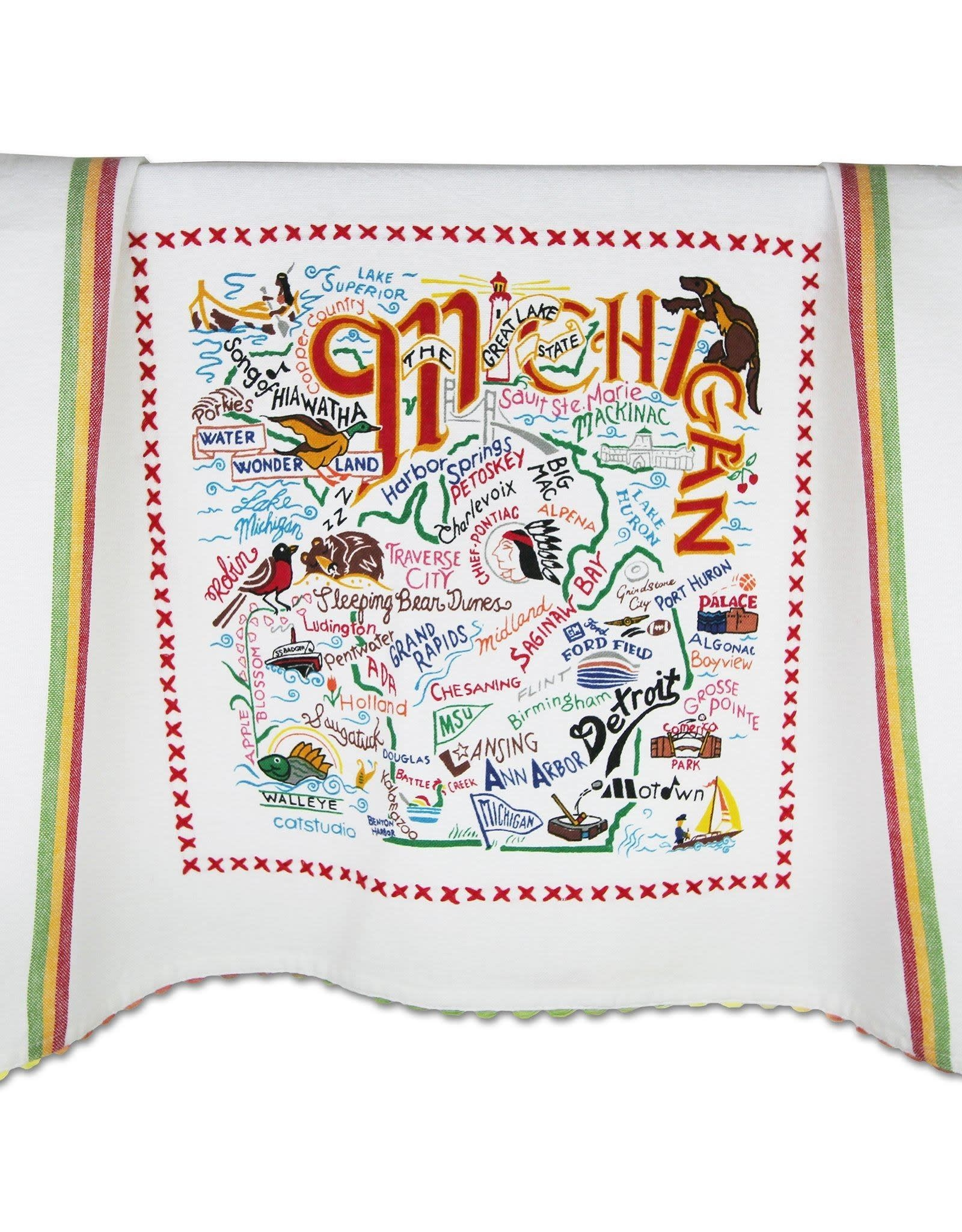 Catstudio Catstudio State Dish Towel Michigan