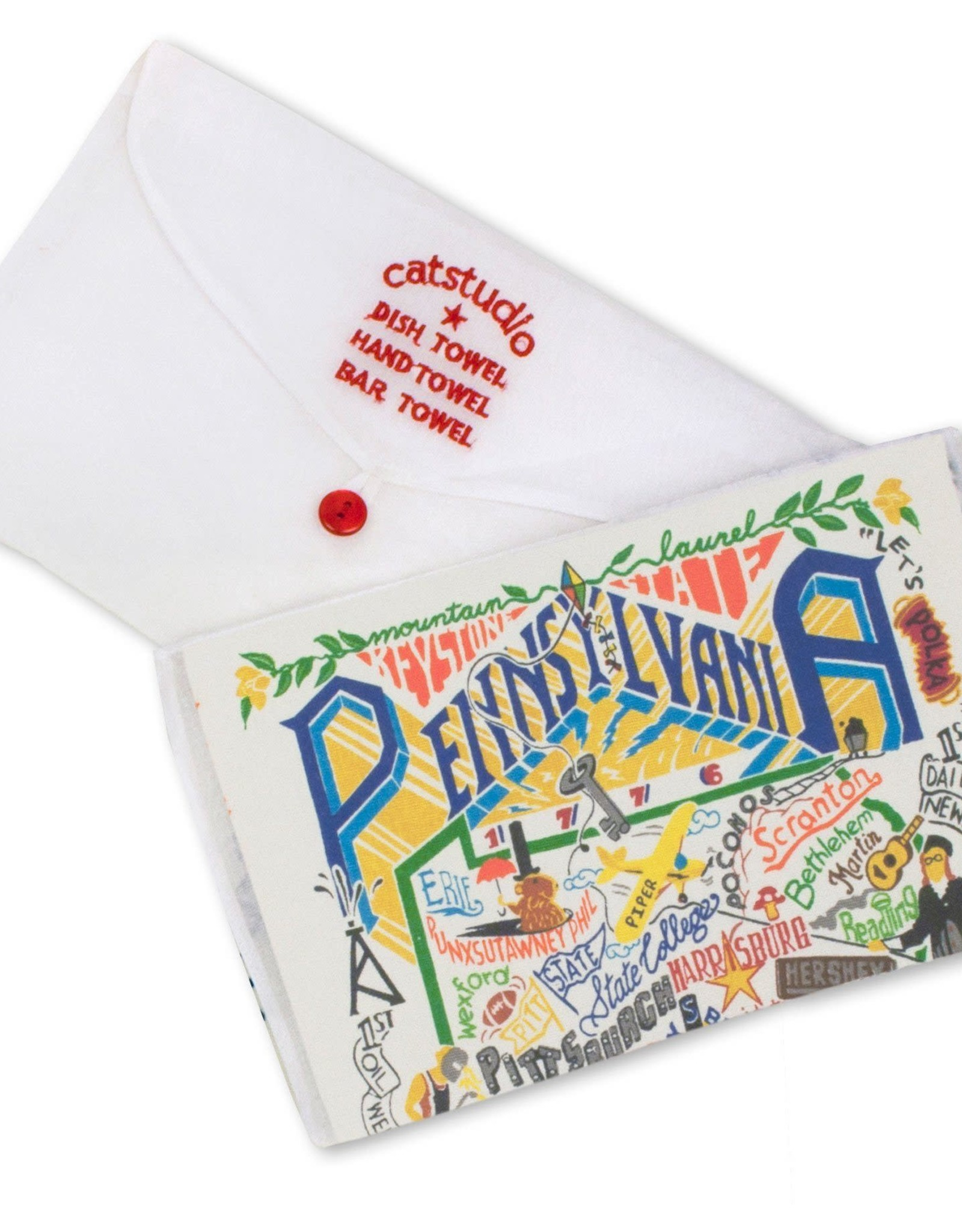 Catstudio Catstudio State Dish Towel Pennsylvania