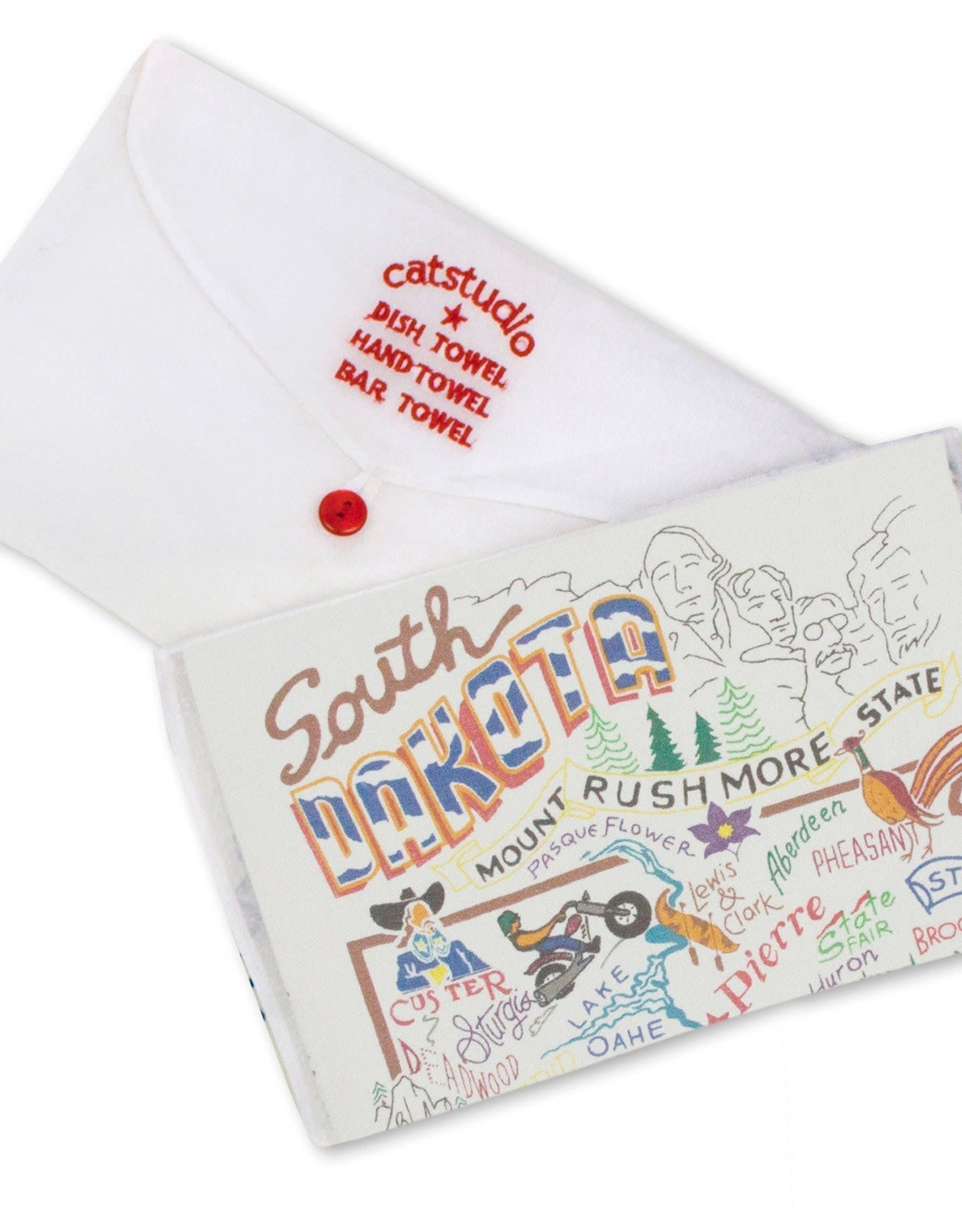 Catstudio Catstudio State Dish Towel South Dakota