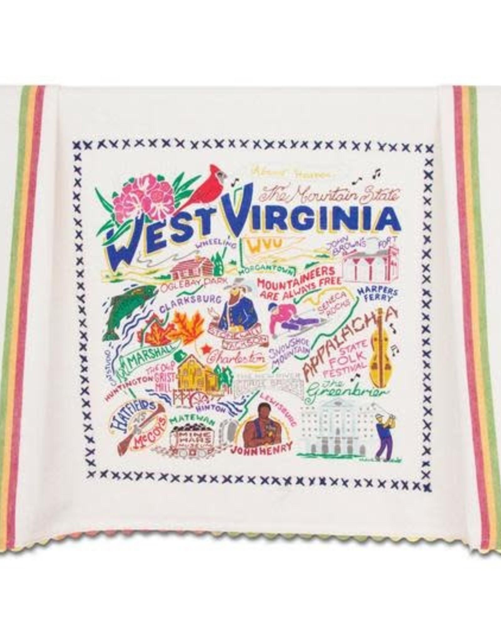 Catstudio Catstudio State Dish Towel West Virginia