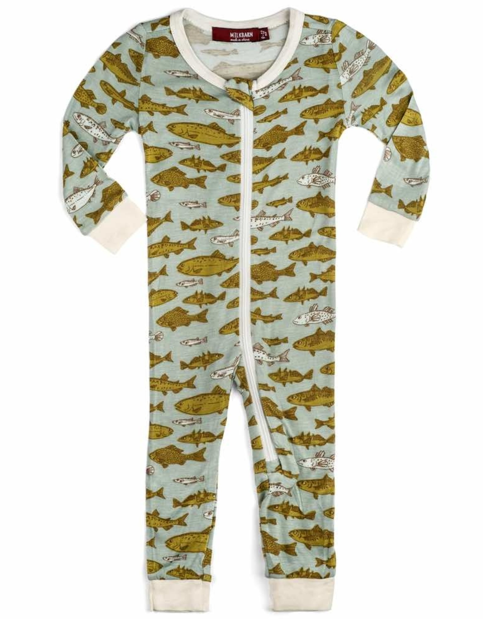 Milkbarn Milkbarn Bamboo Zipper Pajama