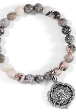 Brighton Joan Of Arc Stretch Bracelet Silver-Pink OS