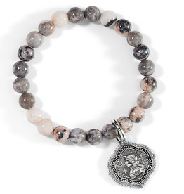 Brighton Joan Of Arc Stretch Bracelet Silver-Pink OS