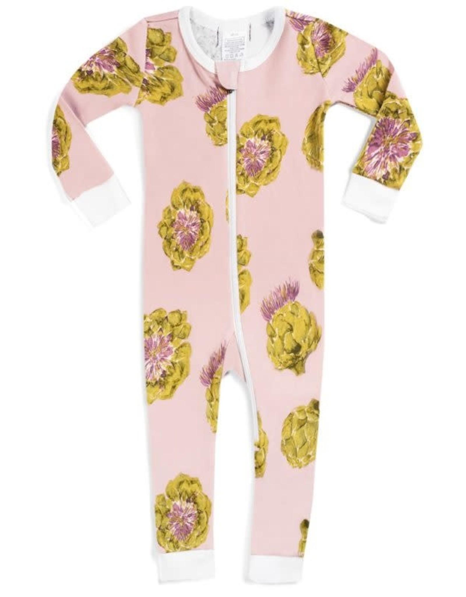 Milkbarn Milkbarn Organic Zipper Pajama