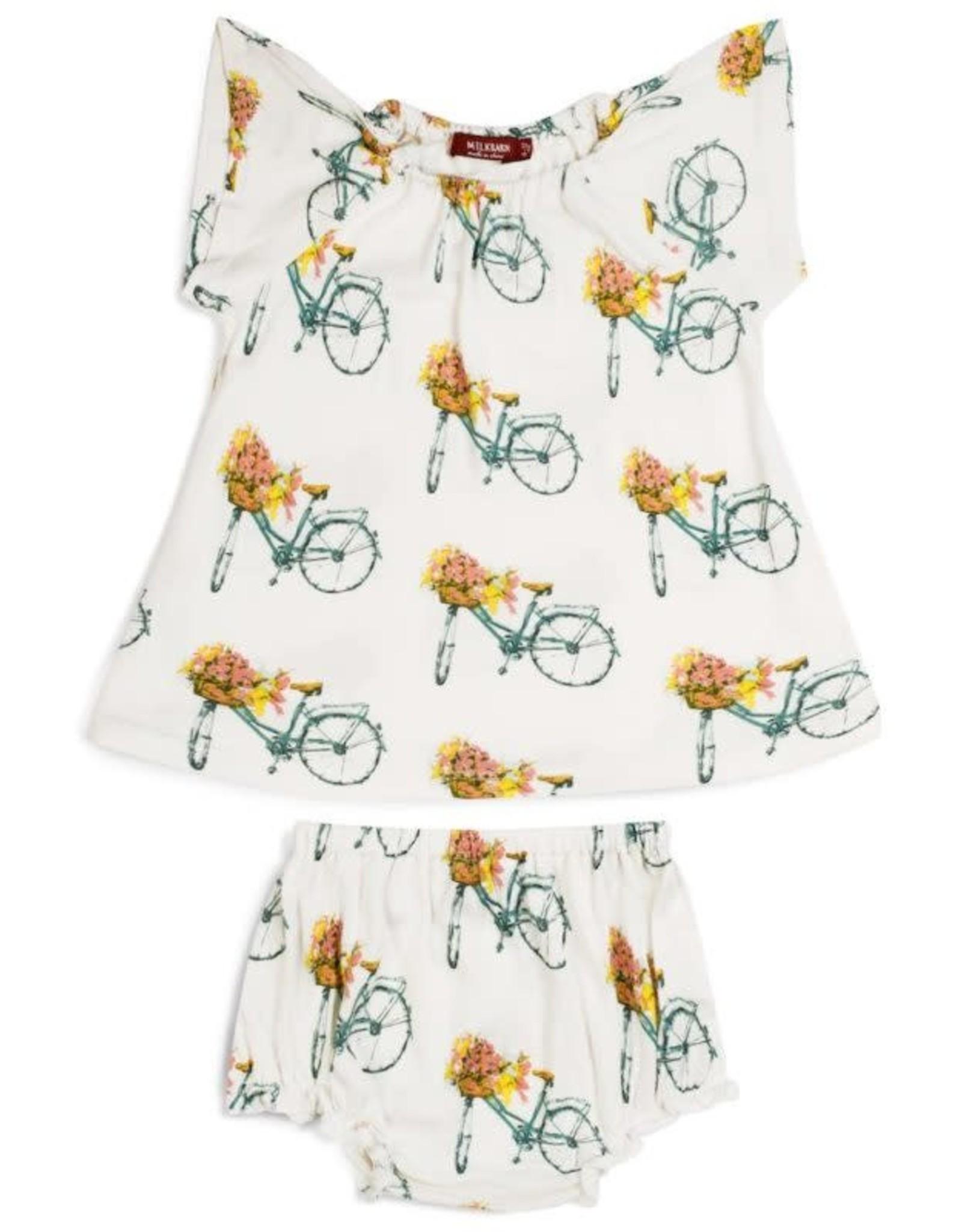 Milkbarn Milkbarn Short Sleeve Peasant Dress w/Bloomer