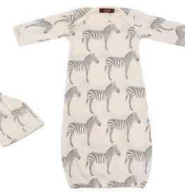 Milkbarn Milkbarn Newborn Gown & Hat Set 0-3 Months