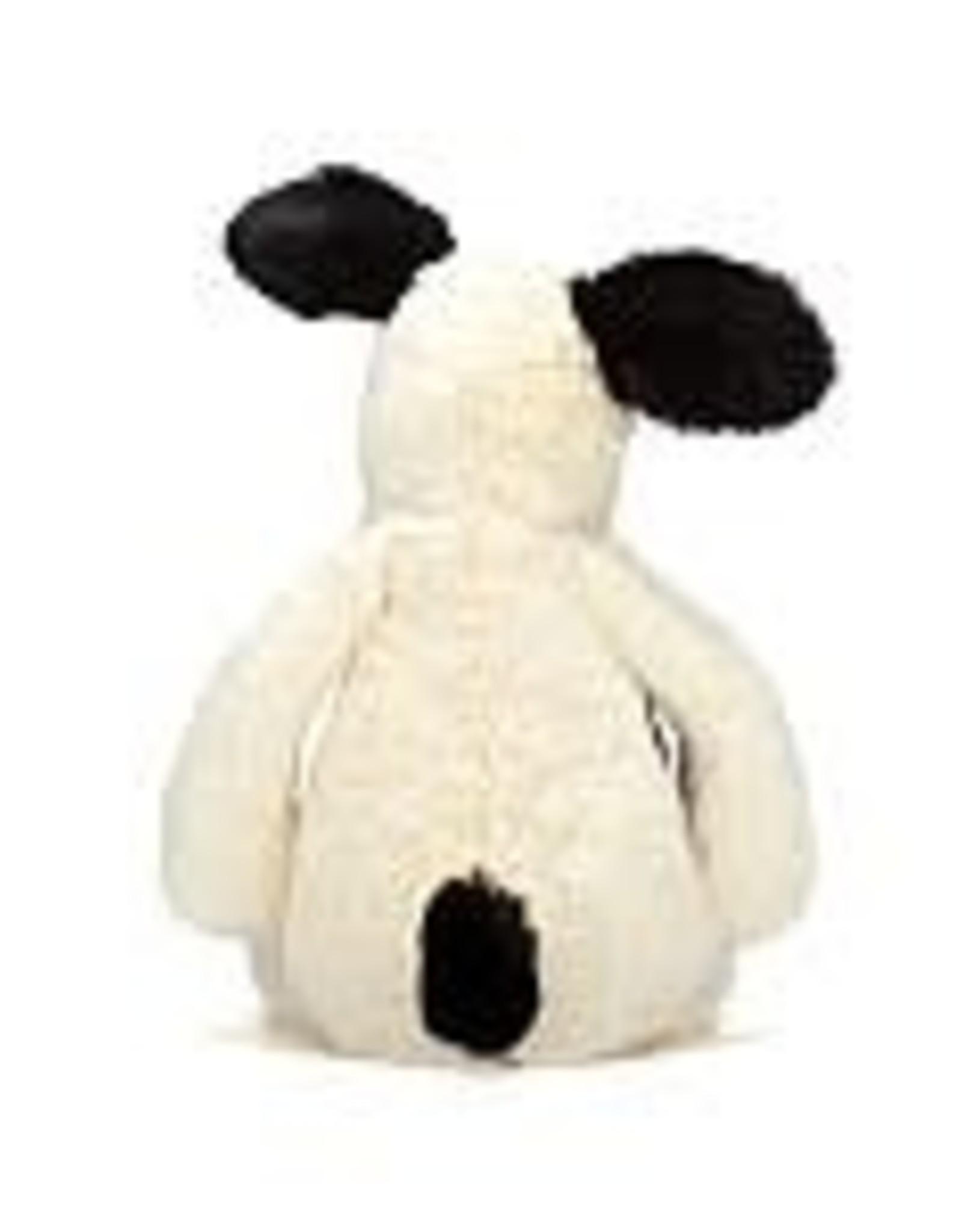 Jellycat Inc. Jellycat Bashful Black & Cream Puppy Medium