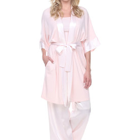 PJ Harlow PJ Harlow Shala Knit Robe with Satin Trim