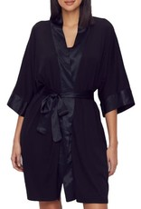 PJ Harlow PJ Harlow Shala Knit Robe with Pockets & Satin Trim