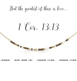 Dot & Dash Design Dot & Dash Scripture Necklace - 1 Corinthians