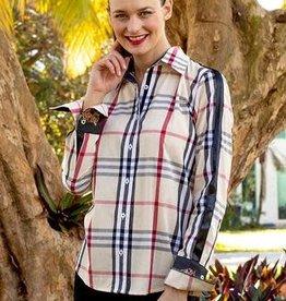 Tizzie Rome Burberry Shirt W/ Ribbon Sleeve