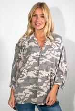 Suzy D Printed Oversize Shirt