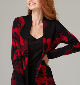 Joseph Ribkoff Red & Black Knit Jacket