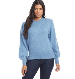 Karen Kane Blue Blouson Sleeve Sweater