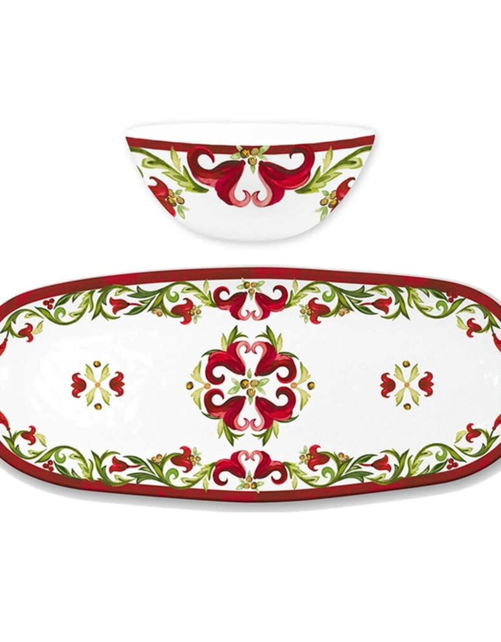 Le Cadeaux Le Cadeux Bowl & Tray Set