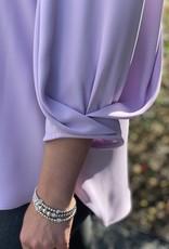Joseph Ribkoff Elegant Pin Tuck Sleeve Blouse