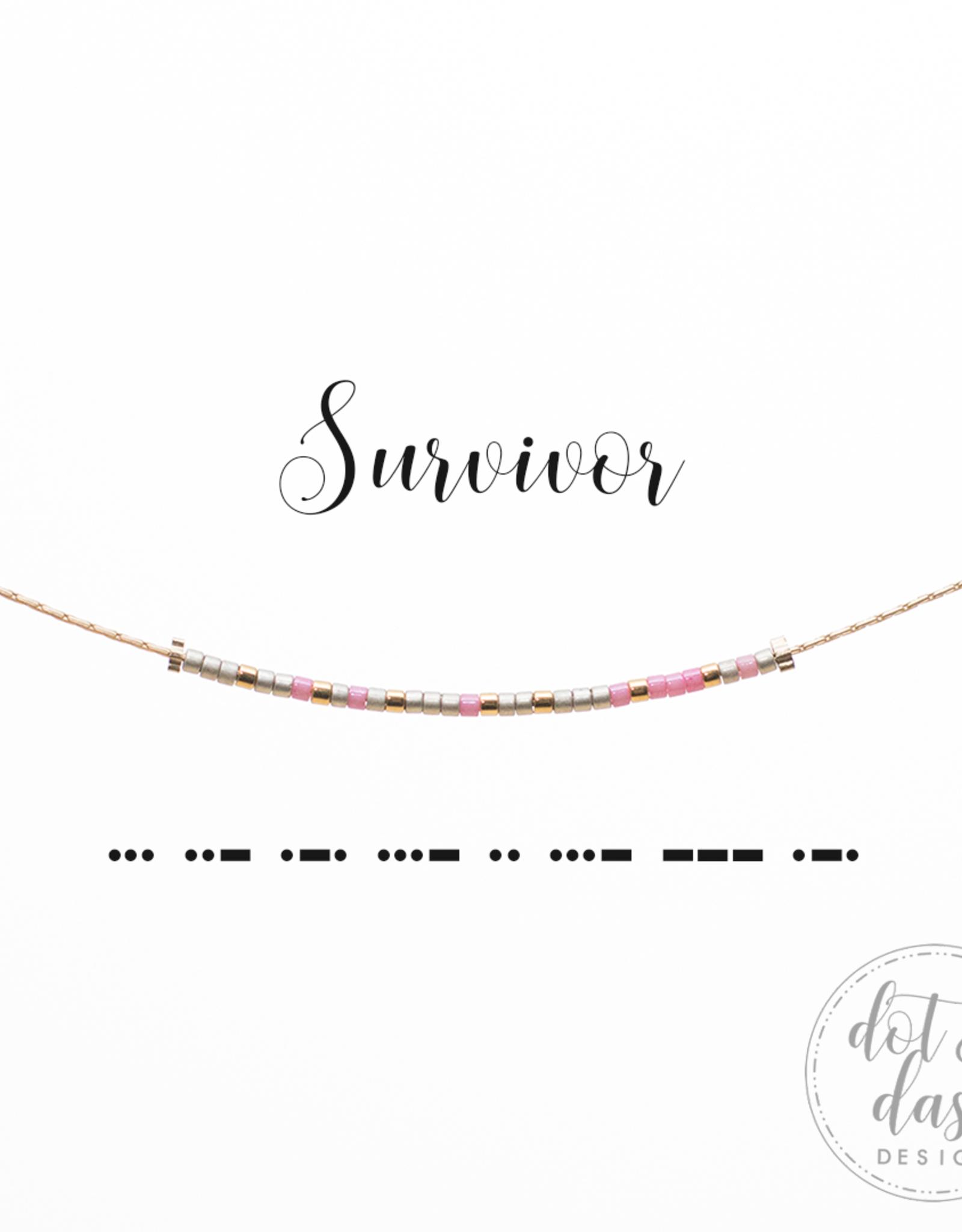 Dot & Dash Design Dot & Dash Faith & Friendship Necklace