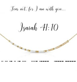 Dot & Dash Design Dot & Dash Scripture Necklace - Isaiah 41:10