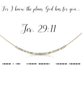 Dot & Dash Design Dot & Dash Scripture Necklace - Jeremiah