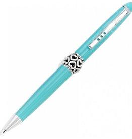 Brighton Aqua/Sil Pen Pal Long Charm Pen