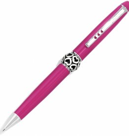 Brighton Pink/Silver Pen Pal Long Charm Pen