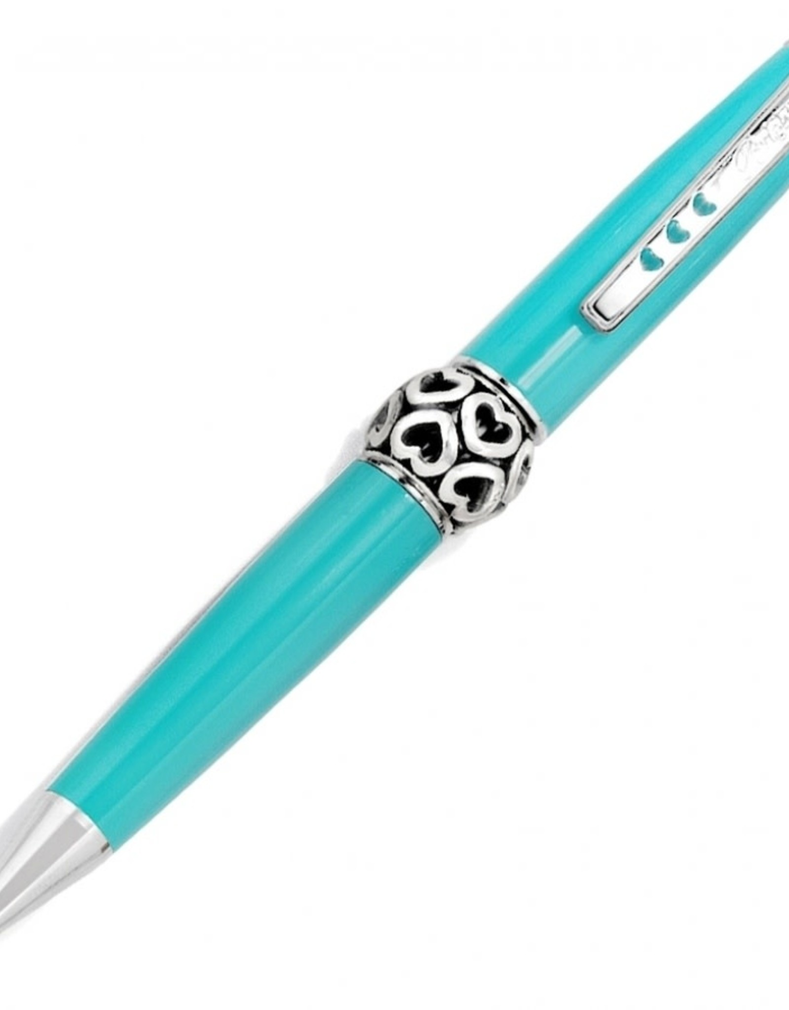 Brighton Aqua/Silver Pen Pal Charm Pen