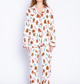 PJ Salvage Gingerbread Cookie Flannel Set