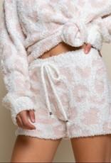 POL Clothing Inc. White/Pink Leopard Short