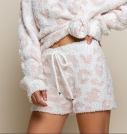 POL Clothing Inc. White/Pink Leopard Short