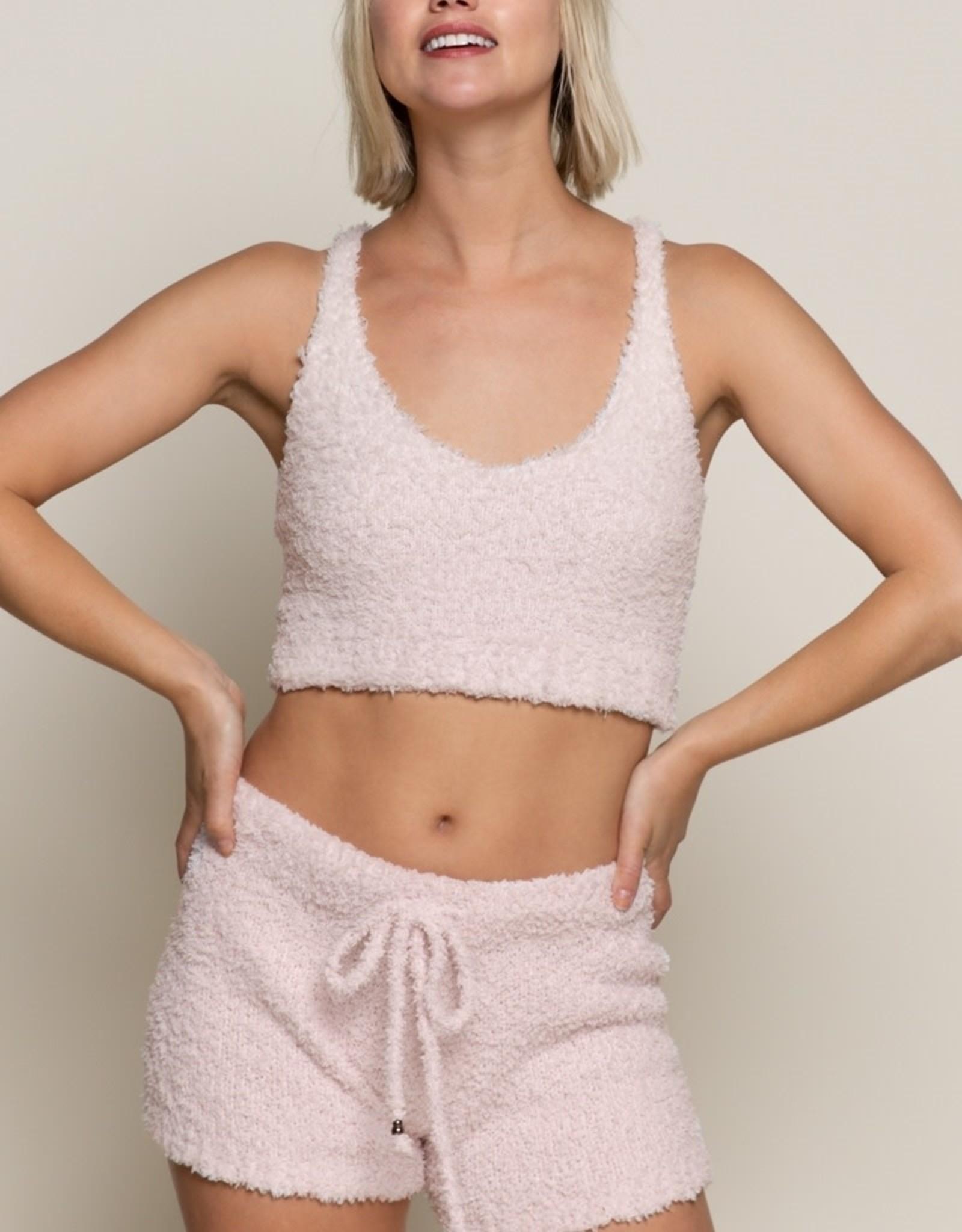 POL Clothing Inc. Solid Berber Fleece Short
