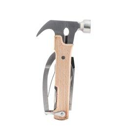 Kikkerland Wood Hammer Multi-Tool