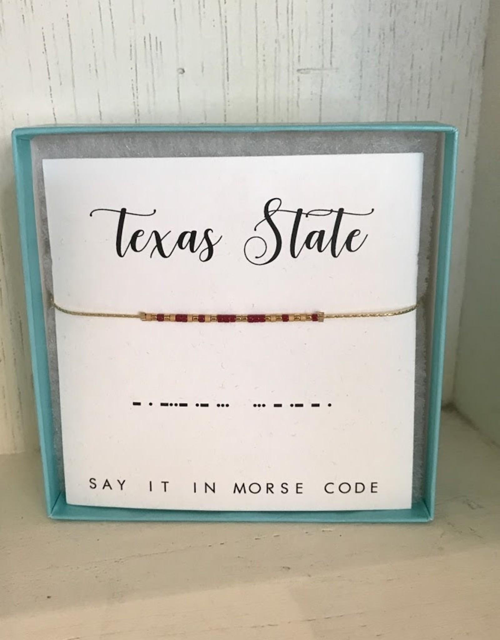 Dot & Dash Design Dot & Dash Texas In-State Collegiate Necklaces