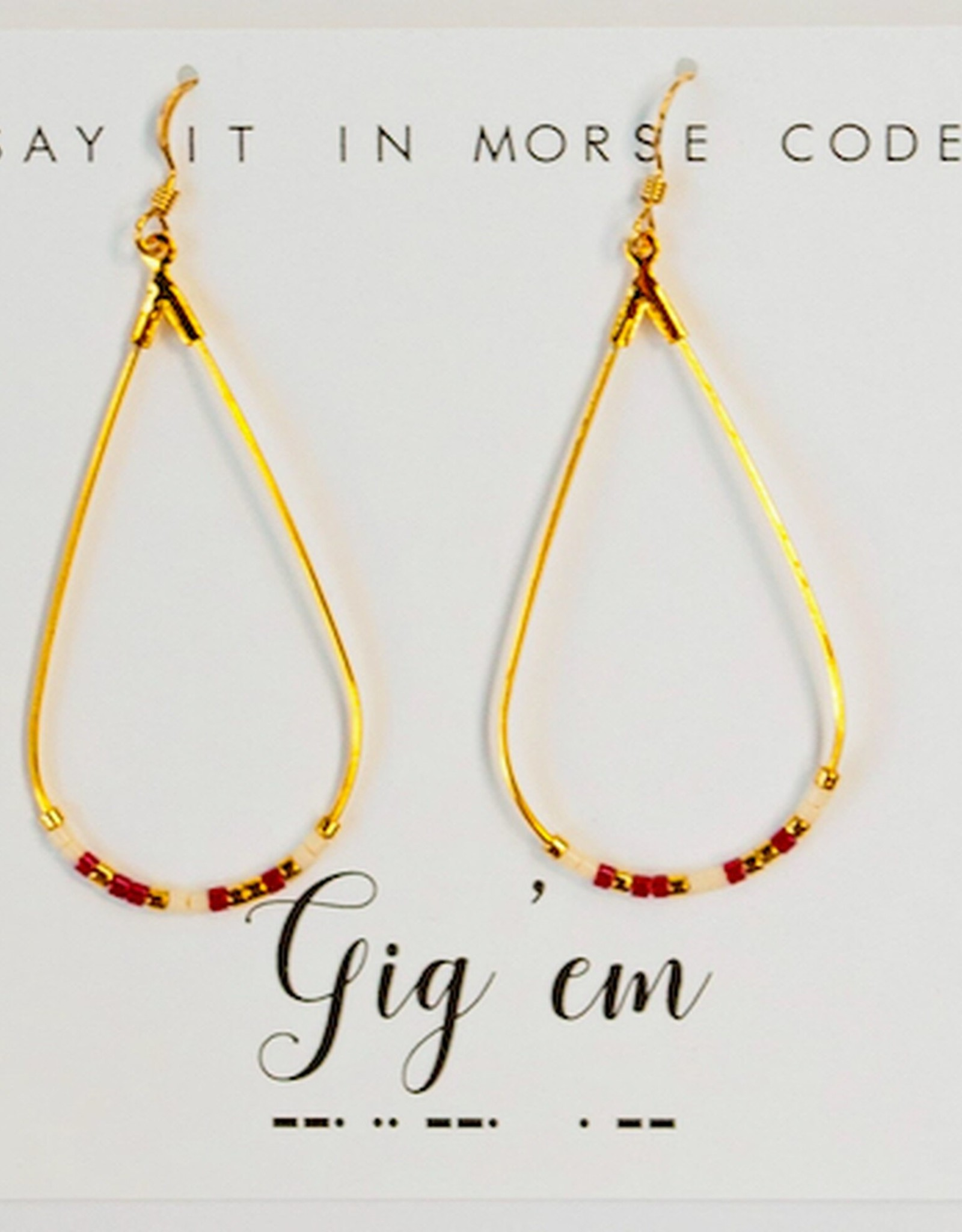 Dot & Dash Design Dot & Dash Collegiate Earrings