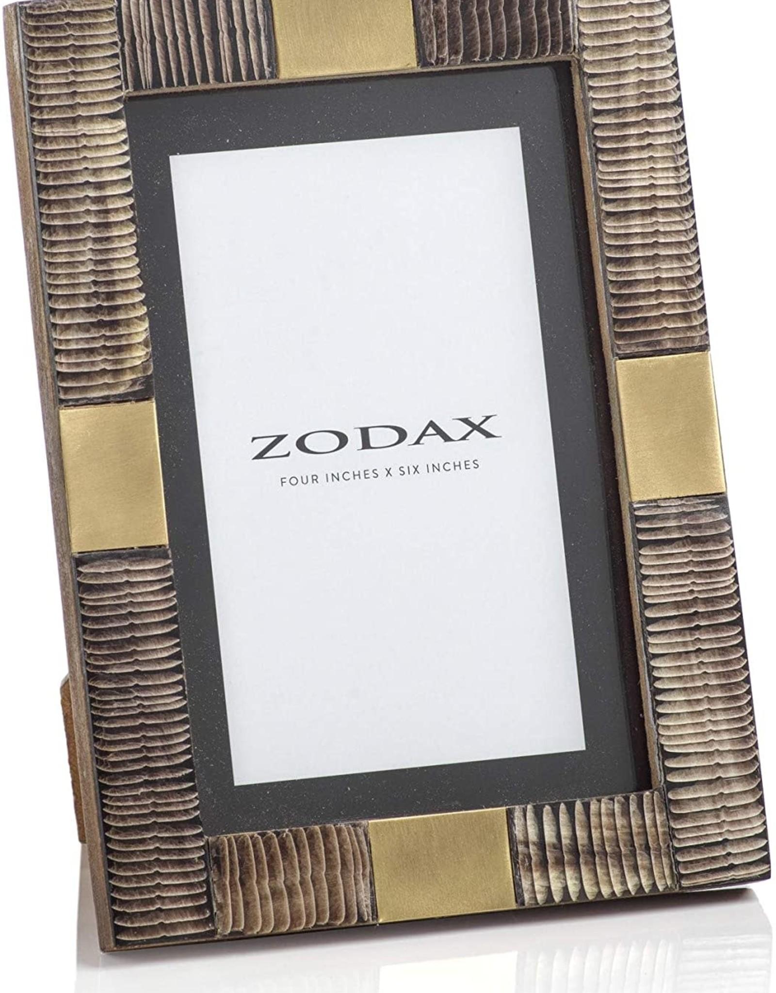 Zodax Zodax Horn & Brass Leaf Frame