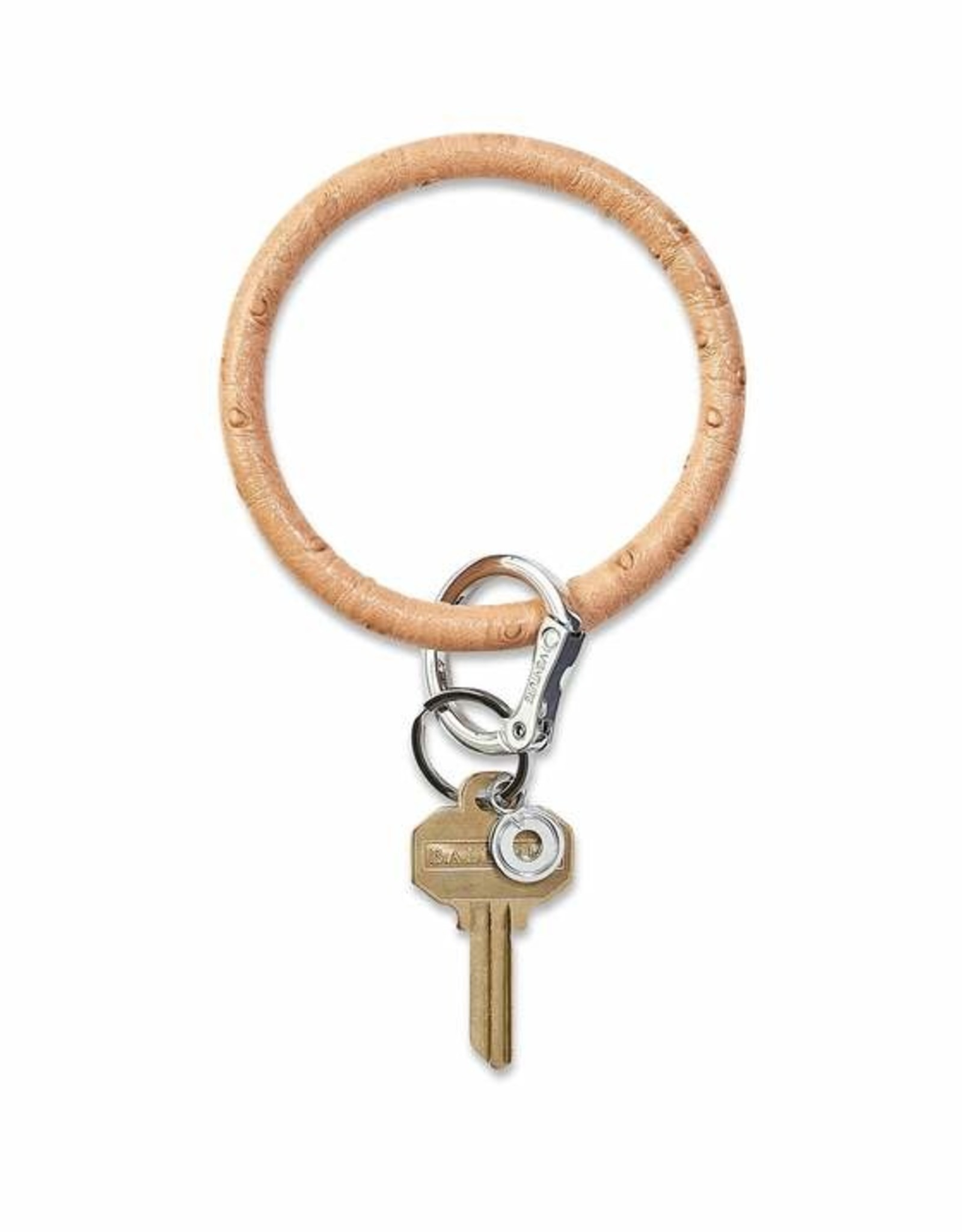 O-Venture O-Venture Leather Big O Key Ring Embossed