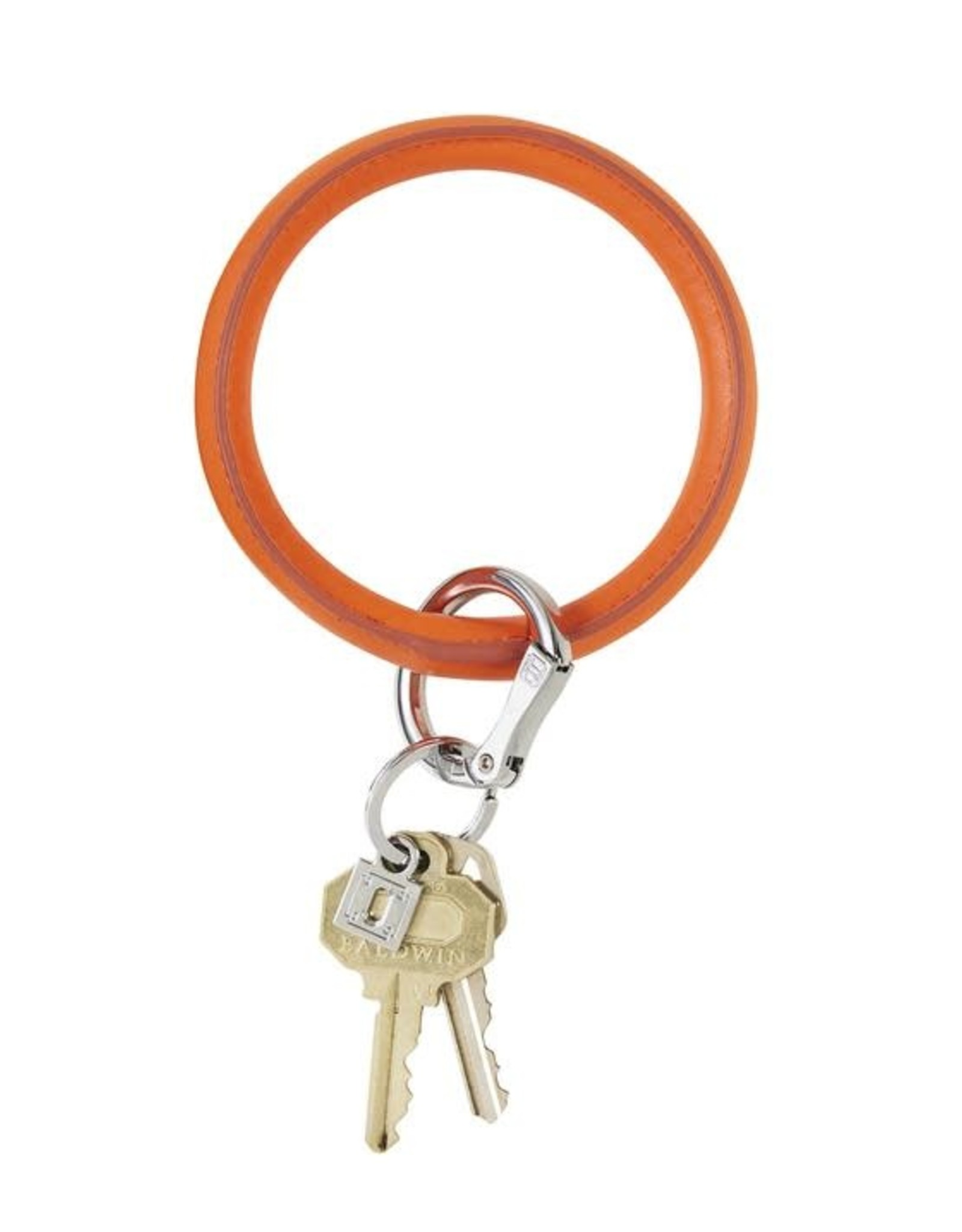 O-Venture O-Venture Leather Big O  Key Ring Smooth
