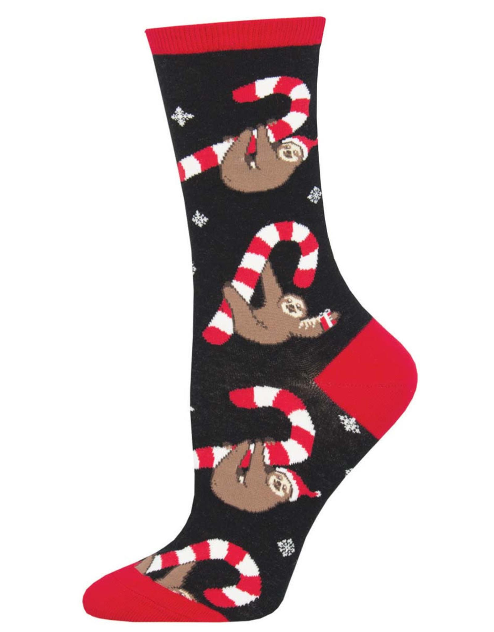 Socksmith Women's Merry Slothmas Black Socks