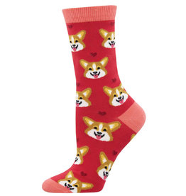 Socksmith Women's Corgi Face Pink Socks