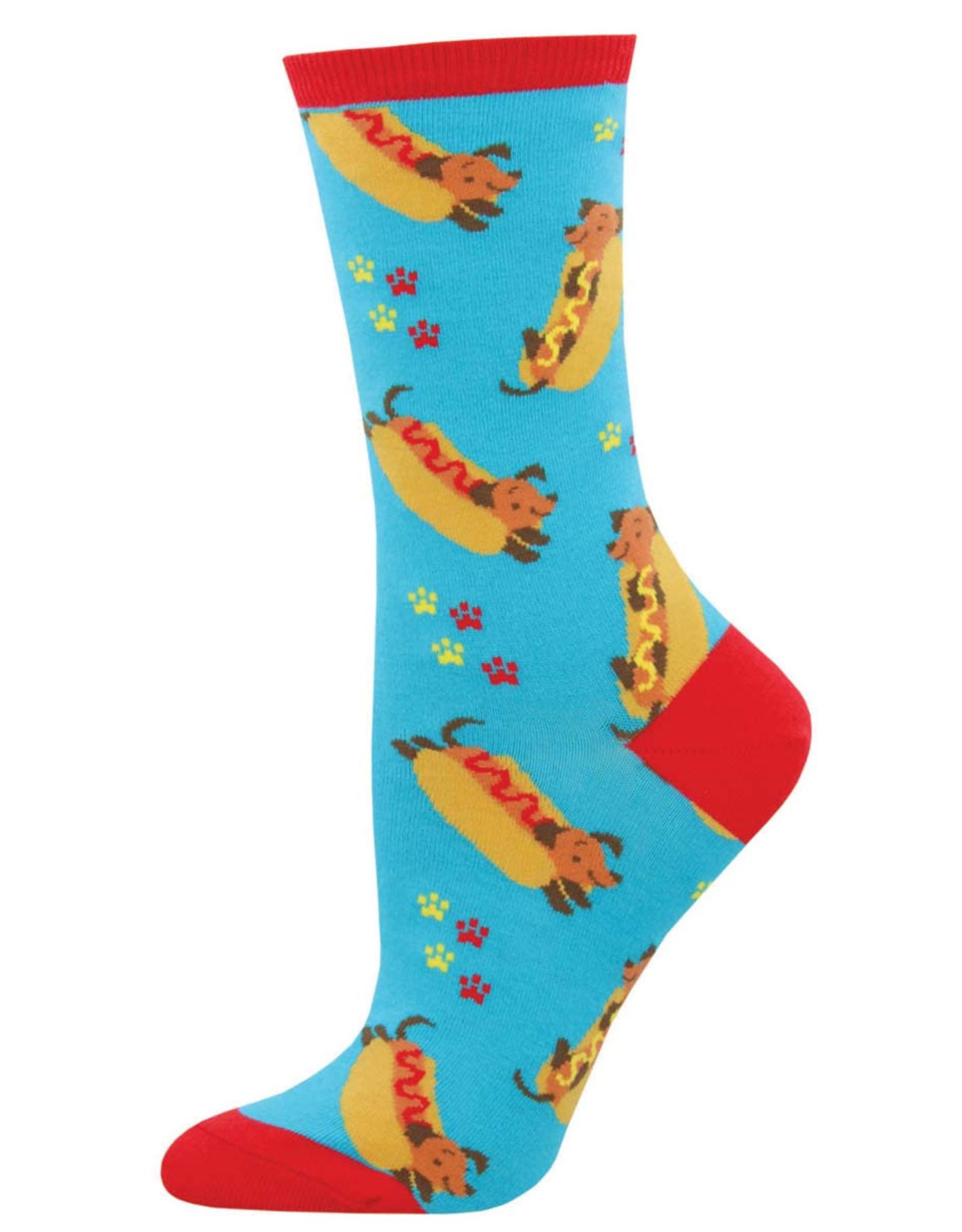 Socksmith Women's Wiener Dog Blue Socks