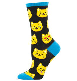 Socksmith Women's Catmoji Black Socks