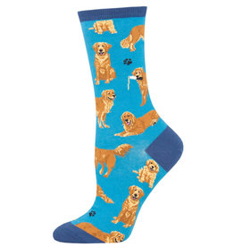 Socksmith Women's Golden Retriever Blue Socks