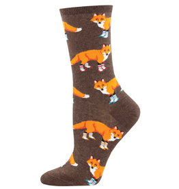 Socksmith Women's Socksy Foxes Brown Socks