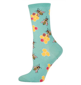 Socksmith Women's Busy Bees Seafoam Socks