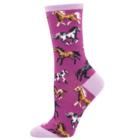Socksmith Women's  Joy Ride Horse Purple Socks
