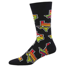 Socksmith Men's Lone Star State Black Socks