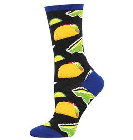 Socksmith Men's Tacos and Margs Black Socks